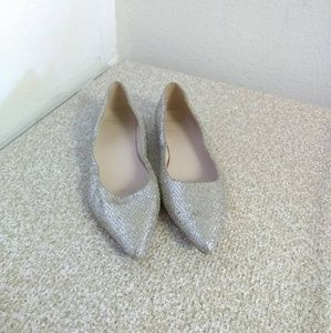 Cole Haan Grand OS Silver Flat Shoes